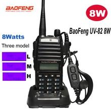 Baofeng UV-82 8 Вт трансивер walkie talkie UV 82 Радио УКВ двухдиапазонный двухсторонний портативный радио UV82 8 Вт до 10 км