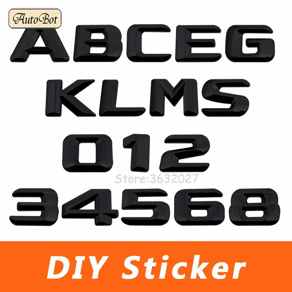 用メルセデスベンツw204 w203 w211 w210 w212 w205 cla gla glc glk w124 w163車のトランクリアトランクリッドエンブレムバッジアルファベットレターデカール