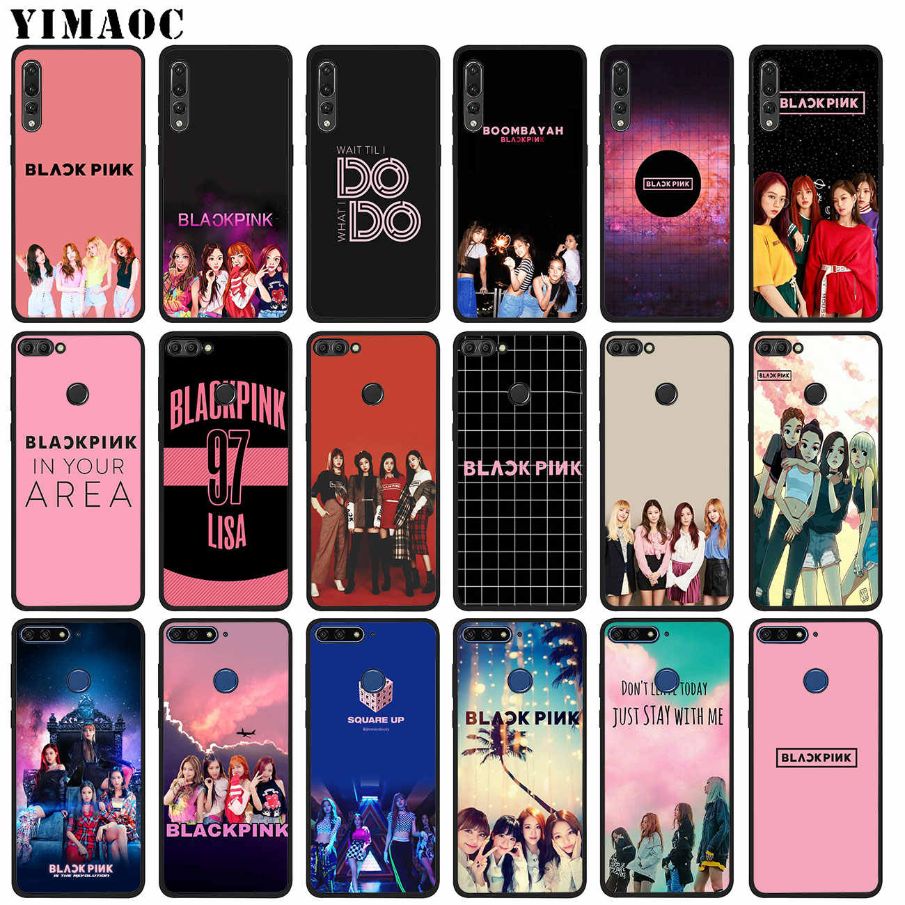 YIMAOC JENNIE BLACKPINK Kpop LISA Soft Silicone Phone Case for Huawei P20 Pro P10 P9 P8 Lite Mini 2017 P Smart Z 2019 TPU Cover