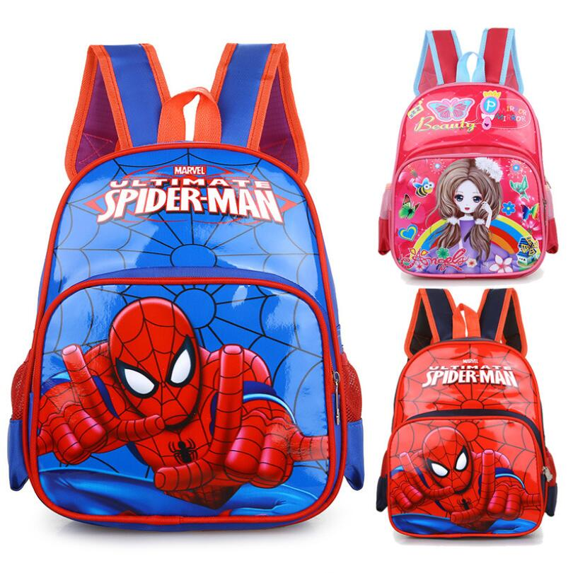 Spiderman Boy Girl Baby Children Kindergarten Nursery <font><b>School</b></font> bag Bagpack Schoolbags Orthopedics <font><b>Kids</b></font> Student <font><b>Backpacks</b></font> image