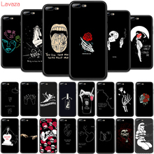 Lavaza Art White Line Kiss Love Heart Flower Rose Girl TPU C