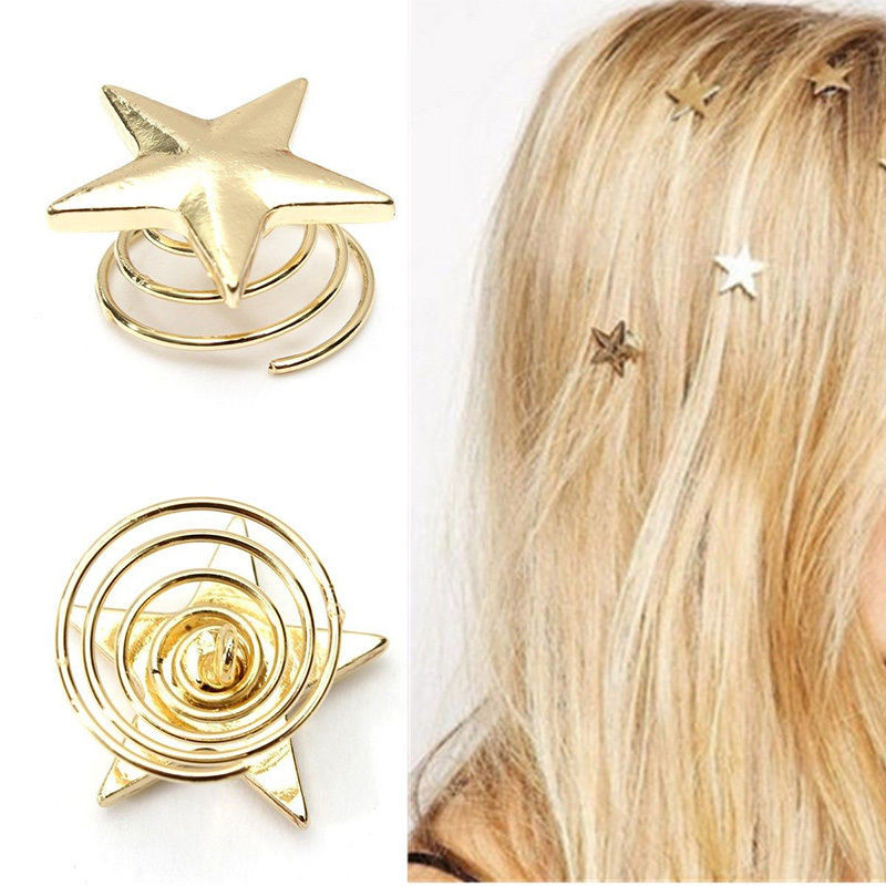 10PCS Classic Mermaid Scale Hair Clips Vintage Bronze Hair Pin for Jewelry Gift