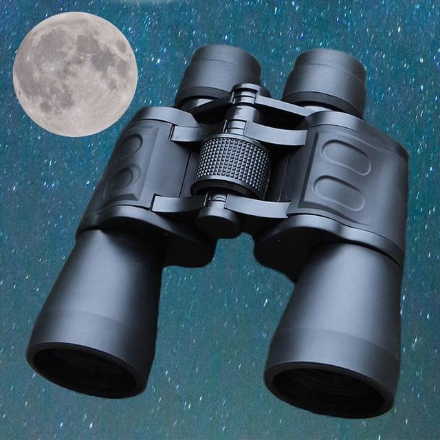 עוצמה 20X50 טלסקופ 10000 M משקפות בהירות גבוהה לציד חיצוני זכוכית אופטית HD טלסקופ ראיית לילה נמוכה