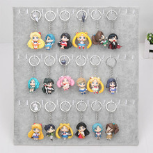 6 Q Verison pçs/set Anime Sailor Moon Mars Júpiter Venus Mercury Pingente Keychain Figuras de Ação Brinquedos Dolls