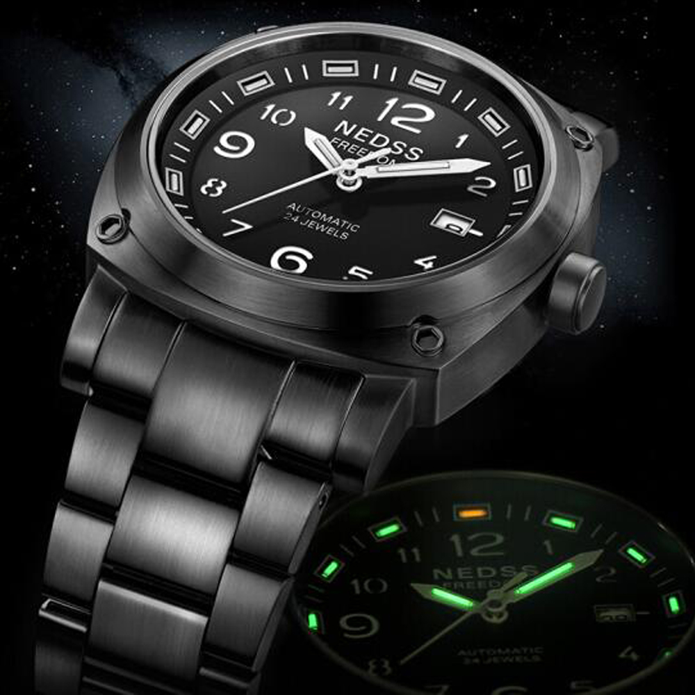 mens watches top brand luxury NEDSS Fashion Automatic Mechanical Watches Men's Sports Military Wrist Watch 100 waterproof clock