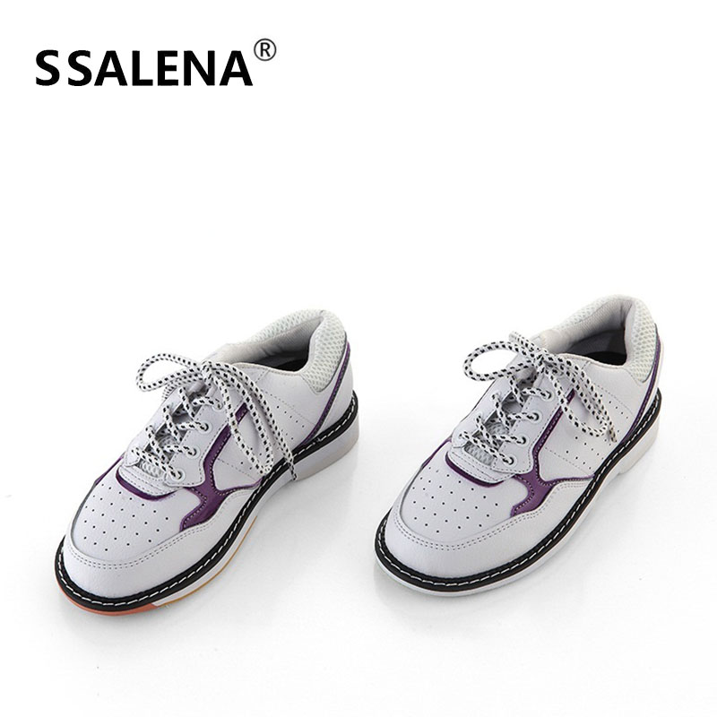 Mens Classic Bowling Shoes Lightweight Skidproof Sports Shoes Unisex Leather Breathable Sneakers Mesh Footwear AA11041