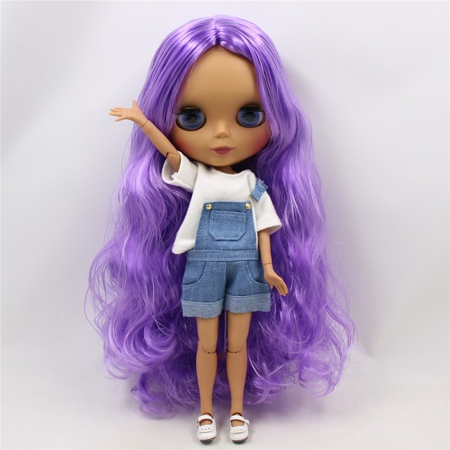 ICY Neo Blythe Doll Purple Hair Jointed Body