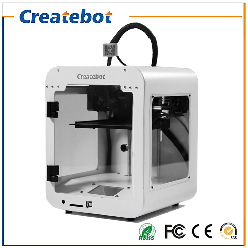 High precision Createbot Super Mini 3D Printer No Assembly Required Metal Frame impresora 3D 1Roll Filament 1GB SD card Gift 2017 newest tevo tarantula 3d printer impresora 3d diy impressora 3d with filament micro sd card titan extruder i3 3d printer