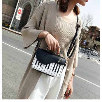 Piano Keys Crossbody Chain Bag
