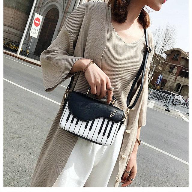 Piano Keys Crossbody Chain Bag