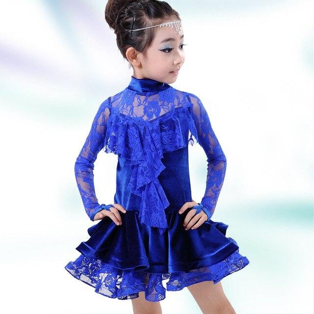 Girl Kids Lace baile latino novia Vestido de los cabritos Vestido ...