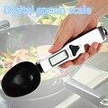 300/0. 1g digital colher escala Eletrônica Digital Colher Balança de Cozinha Balanças Electrónicas escala medicina leite Solar Powered