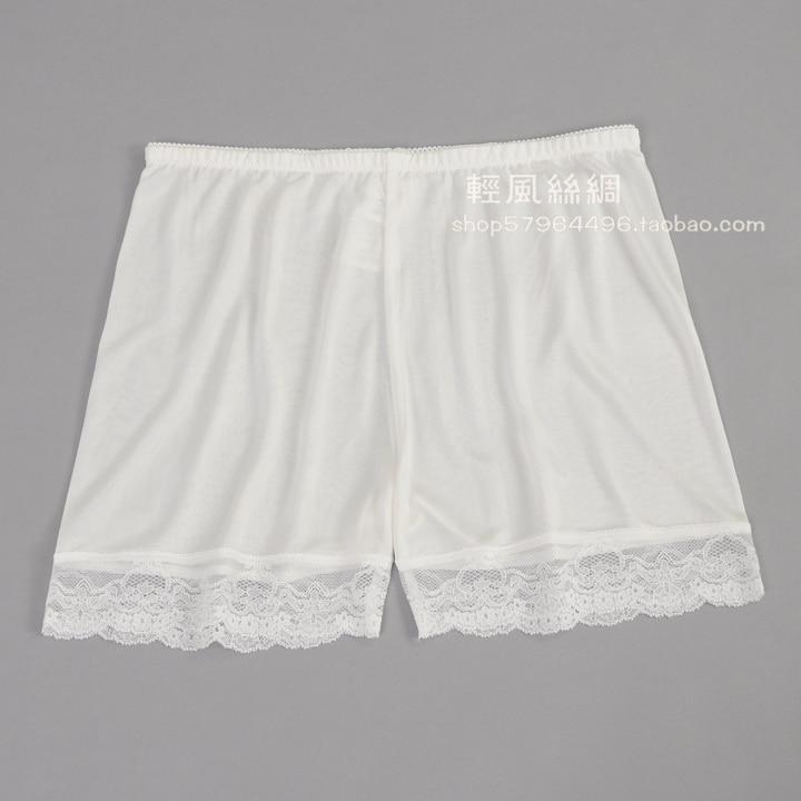 Dámské hedvábné legíny hedvábné pletené tenké kraťasy letní bezpečnostní kalhoty proti vyprázdněným kalhotkám