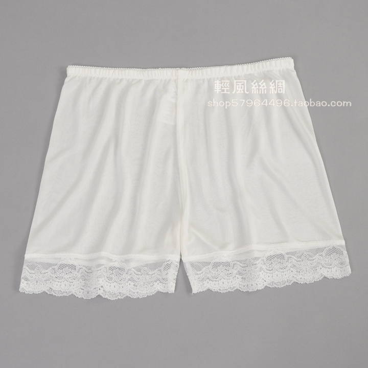 Women's silk legging silk knitted thin shorts summer safety pants anti emptied panties