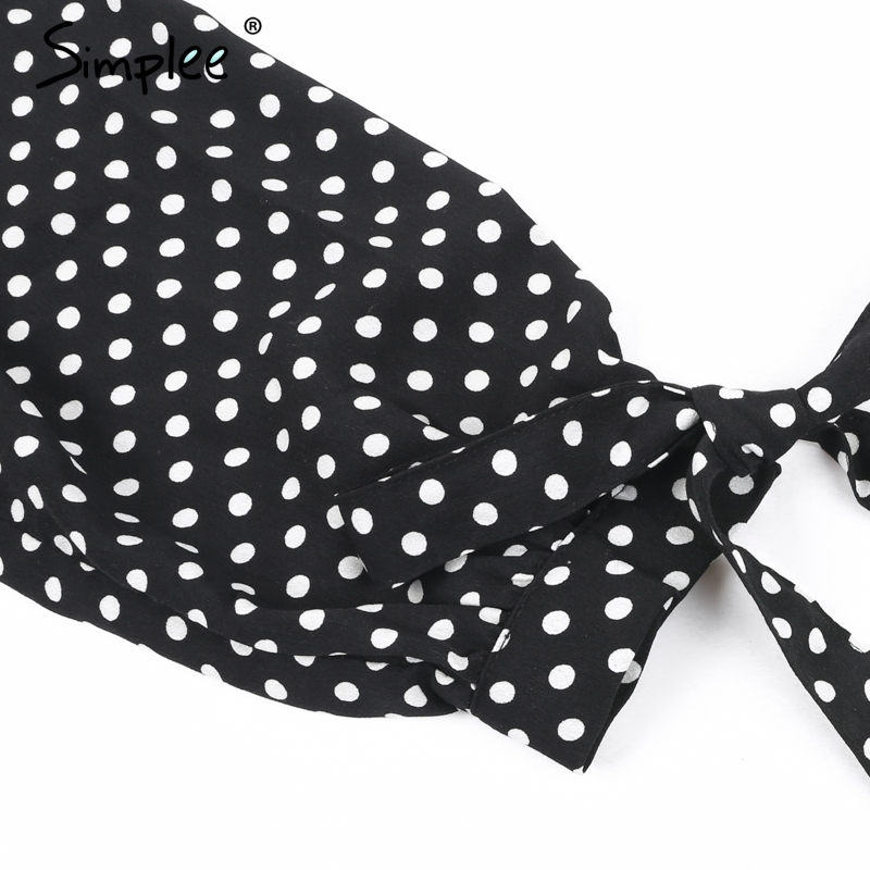 polka Dot bow sleeve