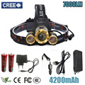 Z50 Led Headlight Zoom headlamp 7000Lm Rechargeable Head lamp Flashlight Head Torch XM-L T6+2Q5 for hunting/camping/Light