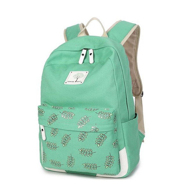 93c48f21a9 Girls Canvas School Bag Backpack for Teenagers Student College Bag for Female  Laptop Women Backpacks Rucksack