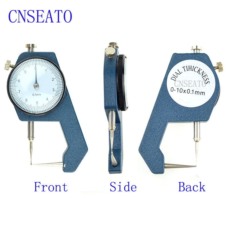 1 Pc Dental Caliper Thickness Gauge 0 10*0.1mm with Watch Measuring Thickness of Metal Dentist Tools Use for Denture Care