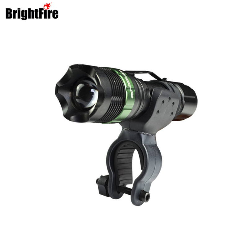 Portable Professional CREE LED Flashlight Strong Lumen 3 Mode Bicycle Light lanterna Zoomable lantern Bike Lamp Bike Front Light professional led flashlight cree q5 strong lumens black zoomable led torch lantern 3 models lanterna led penlight free shipping