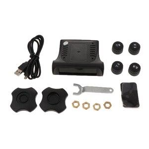Image 1 - 1 セットスマート車 TPMS タイヤ空気圧監視システムデジタル液晶ディスプレイの警報システムタイヤ空気圧監視システム