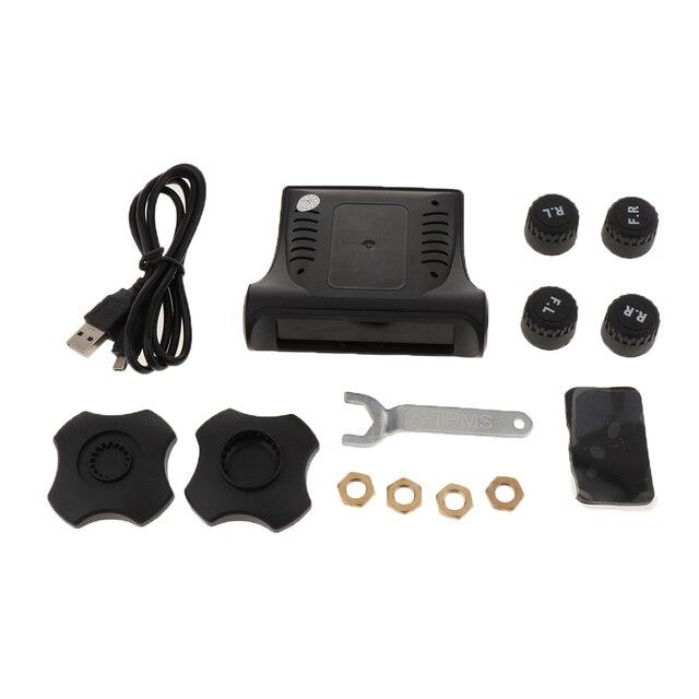1 セットスマート車 TPMS タイヤ空気圧監視システムデジタル液晶ディスプレイの警報システムタイヤ空気圧監視システム