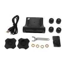 1 zestaw inteligentny samochód TPMS system monitorowania ciśnienia w oponach cyfrowy LCD alarm z wyświetlaczem systemów system monitorowania ciśnienia w oponach