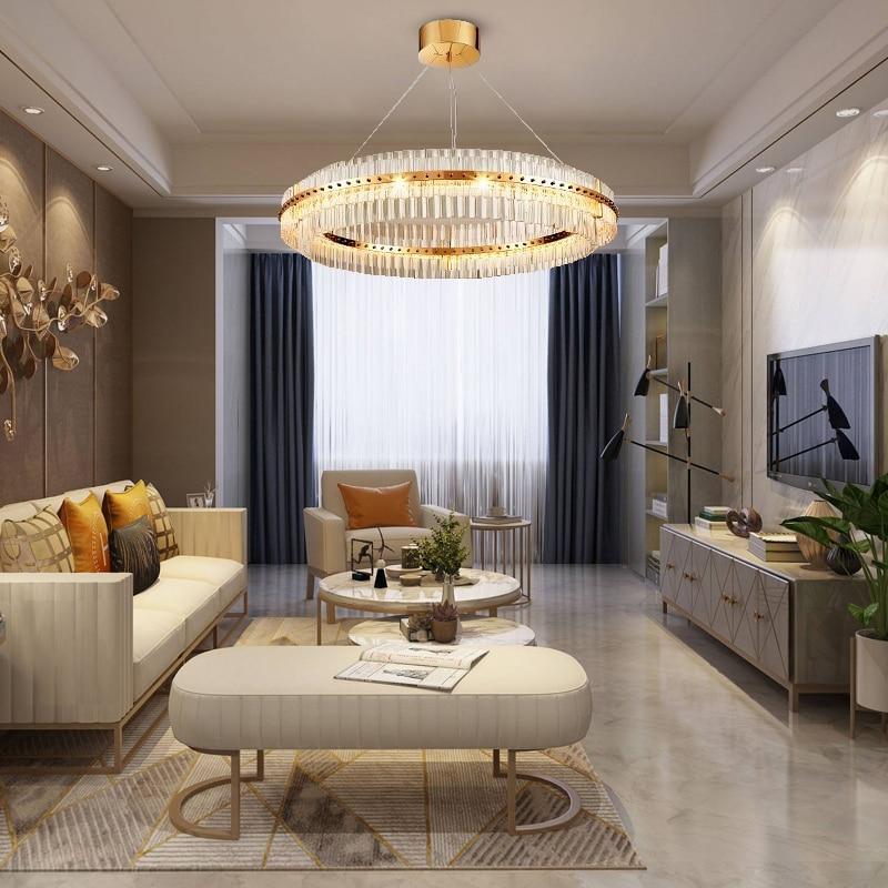 Modern Led Living Dining Room Pendant Lights Suspension: Modern Led Chandelier Lighting For Living Room Silver/gold