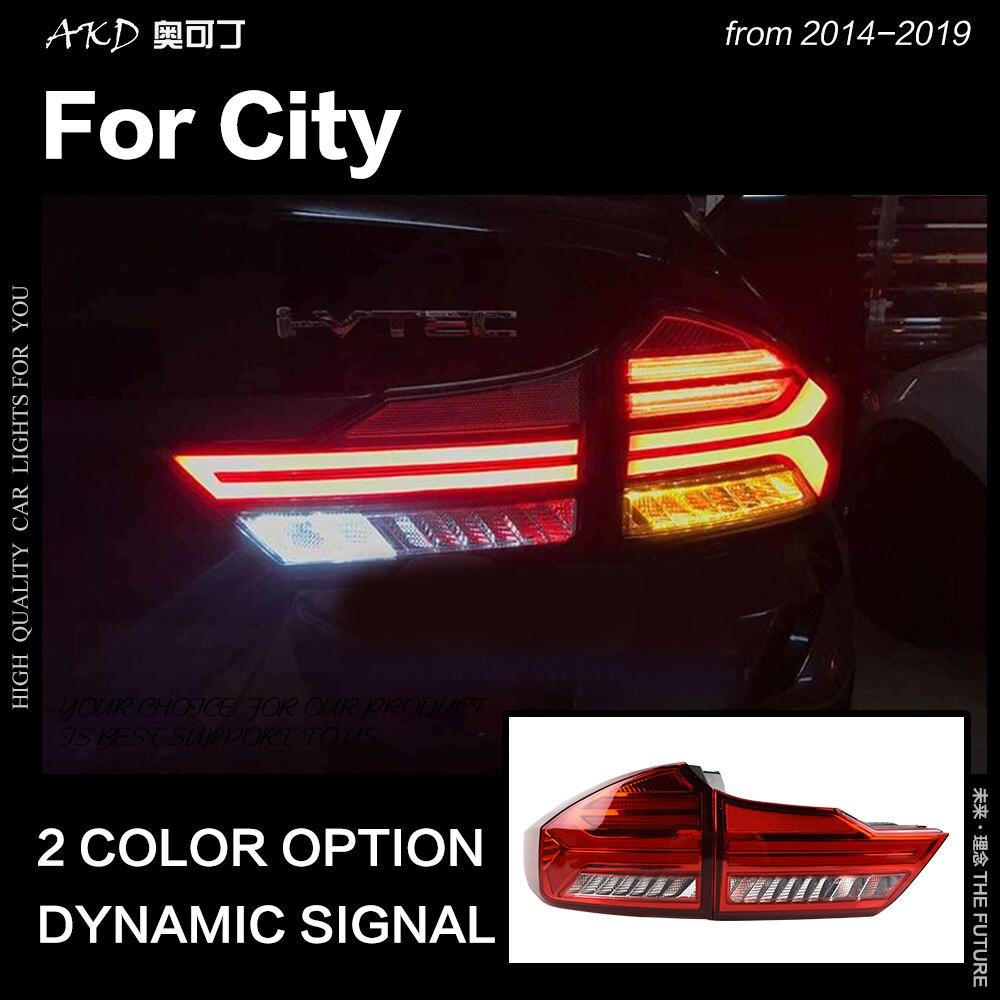 AKD Car Styling for Honda City Tail Light 2014 2019 City LED Tail Lamp LED DRL