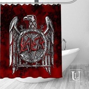 Image 1 - Slayer Shower Curtains Custom Bathroom Curtain Waterproof Bathroom Fabric Polyester Shower Curtain 1pcs custom