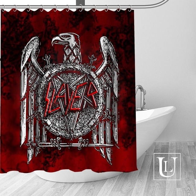 Slayer Shower Curtains Custom Bathroom Curtain Waterproof Bathroom Fabric Polyester Shower Curtain 1pcs custom