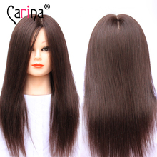 100% Human Hair Mannequin Head Can Curl Black Hairdressing dummy Doll Wig Professional Styling Manikin Training