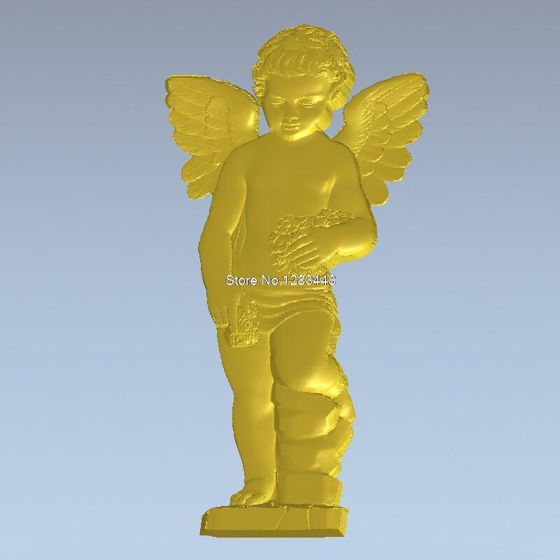 High Quality New 3D Model For Cnc 3D Carved Figure Sculpture Machine In STL File Angel_4