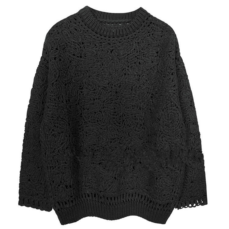 Pull en cachemire femmes 2018 automne hiver basique évider Crochet pull femmes laine pulls pull hiver femme