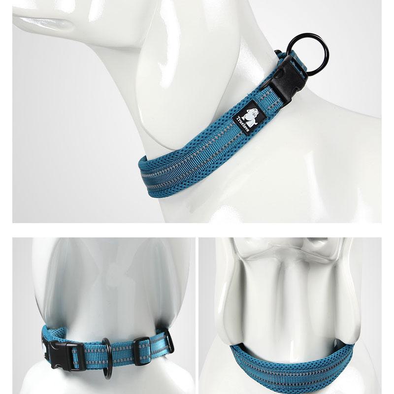 Collar para perro Nylon con acolchado de malla reflectante 3