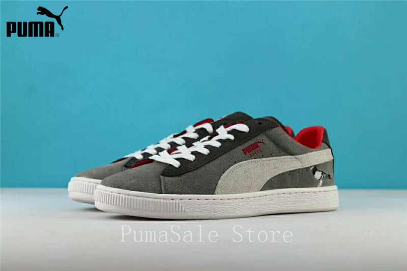 7716d61d3b04 Puma Suede X Staple Suede Women s Sneakers Soft Upper Clyde Pigeon  Comfortable Shoes Men Sports Badminton