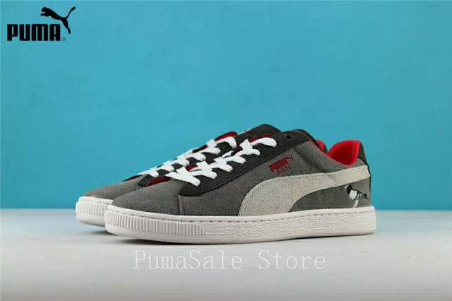 1d8b7d47a7b Puma Suede X Staple Suede Women s Sneakers Soft Upper Clyde Pigeon  Comfortable Shoes Men Sports Badminton