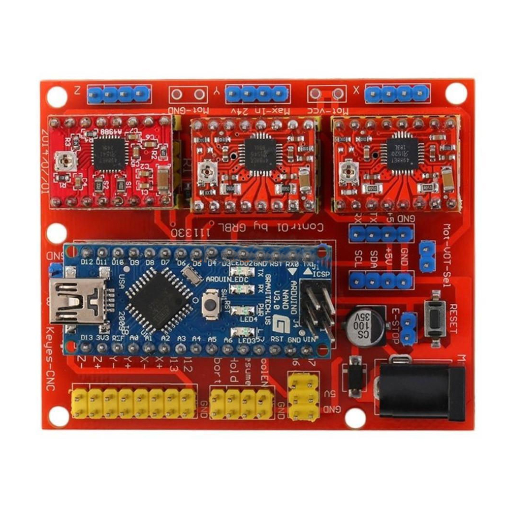 где купить 1 x V4 CNC Shield Engraver 3D Printer Expansion Board A4988,Red по лучшей цене