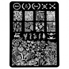 1pcs Love Theme Nail Stamping Plate Stencils Flower Nail Stamp Template Big Size Image Plates Manicure DIY Nail Art 9.5*14.5 cm ocean theme nail stamping plate stencils animal nail stamp template big size image plates manicure diy nail art design