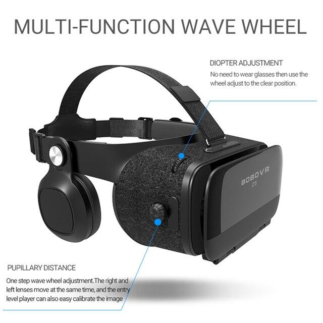 Original bobovr Z5/bobo vr Z5 Virtual Reality goggles 120 FOV 3D Glasses google cardboard with Headset Stereo Box For smartphone 2