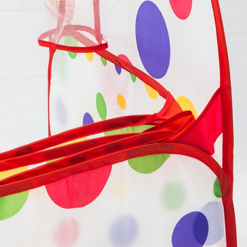 Шестиугольник полиэстер складная палатка стрелять корзины игрушка палатка в горошек дети играют бассейн палатка дети закрытый открытый иг...