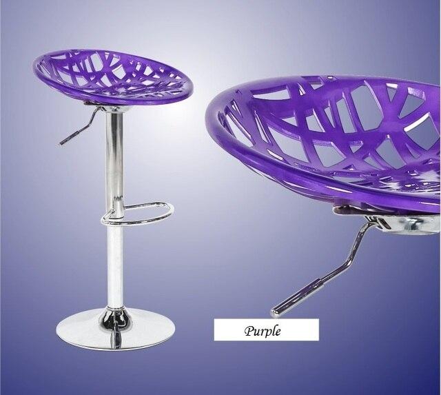 Wohnzimmer Fußstütze Stuhl Kunststoff ABS Sitz Haushalt Barhocker Lila  Schwarz Farbe Möbel Shop Kostenloser Versand