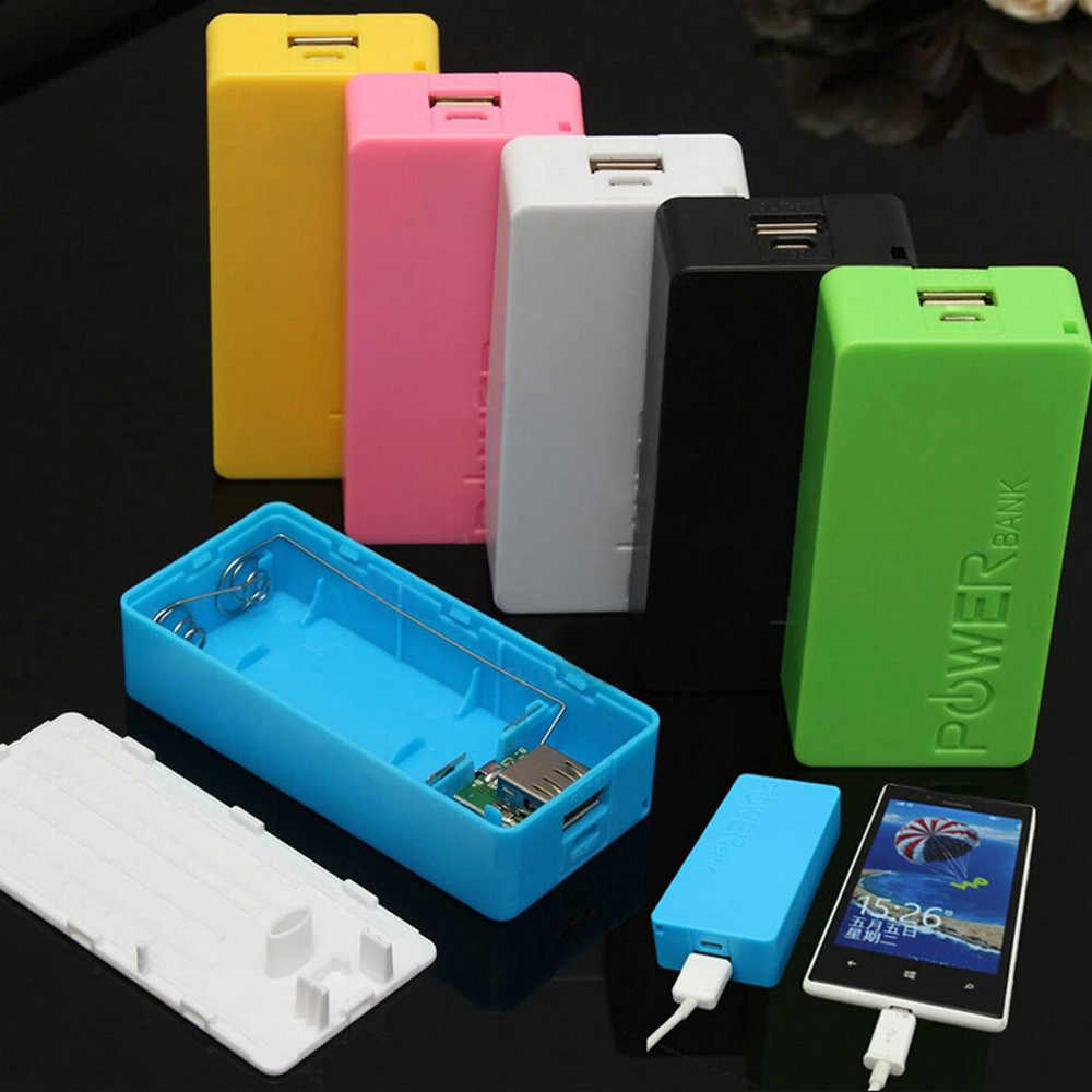 5600mAh 2X 18650 USB Power Bank Battery Charger Case DIY Box External Battery for Mobile Phones 10.19