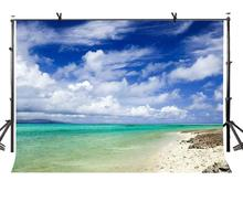 150x220cm Natural Scenery Backdrop Blue Sky White Clouds Sea Nature Landscape Photography BackgroundPhoto Screen