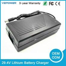 YZPOWER 29.4V7A Inteligente Cargador de Batería de Litio para la Herramienta Eléctrica Robot Eléctrico Li-on de La Batería Del Coche 24 V