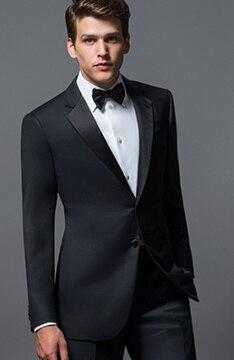 Изготовление под заказ костюм высокого качества смокинг стройная фигура шерсти кровоточить notch Воротник мужчин Торжественная одежда 2018