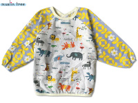 100 Cotton 0 3Years Soft Kids Dinner Clothing Long Sleeve Anti Dirty Cartoon Bib Over Clothes