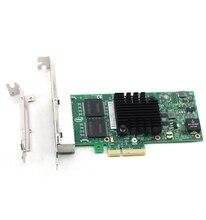 ARUENTEX I350-T4 Quad Port Gigabit Ethernet PCI-E X4 Intel I350AM4 Network Server Adapter  Card alibaba express
