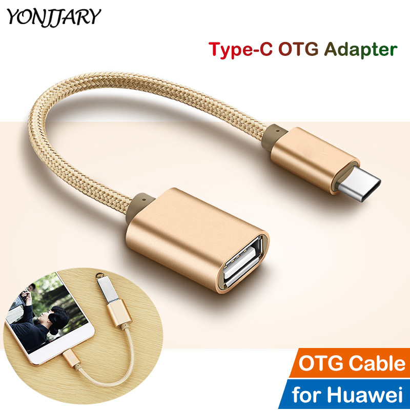 USB Type C Cable OTG Adapter For Huawei Honor 8 9 10 V10 P9 P10 P20 P30 Mate 9 10 20 X Pro Lite Nova 2S 3 4 USB-C OTG Converter