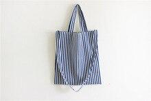 2017 new Canvas Shopper Bag Striped Prints Beach Bags Tote Women Ladies Shoulder bag Casual Shopping Handbag Bolsa