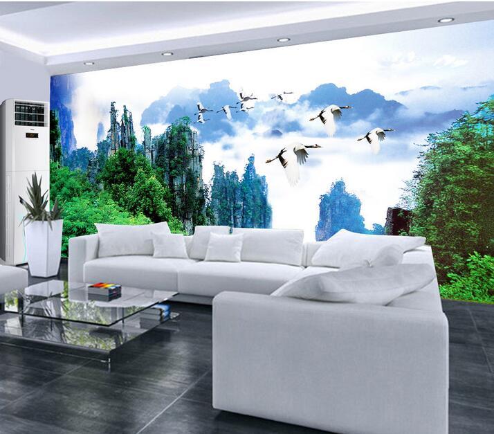 custom photo 3d wallpaper non woven mural wall sticker wonderland